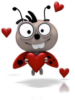 Bee holding Heart