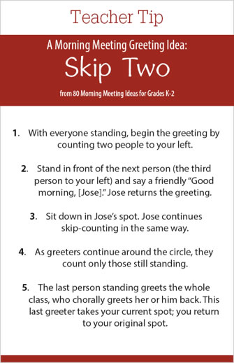 Responsive classroom try the skip greeting m4hsunfo